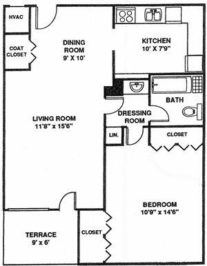 1 Bedroom NewMid A1