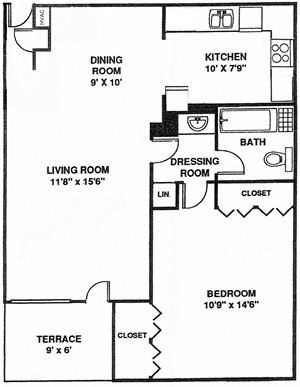1 Bedroom South A2