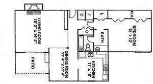 1 Bedroom Gardens A6