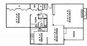 1 Bedroom Gardens A8