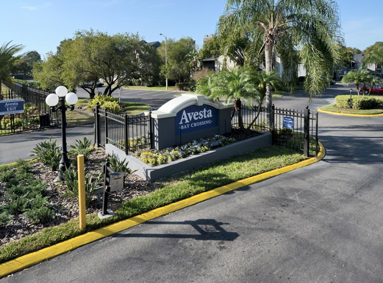 front gate 2 | Avesta Bay Crossing Apartments Tampa, Fl