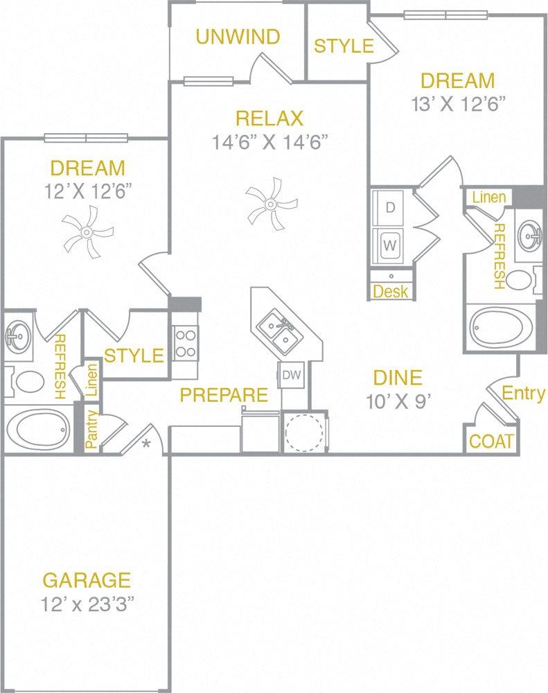 B1LG B1 Garage Floor Plan 3