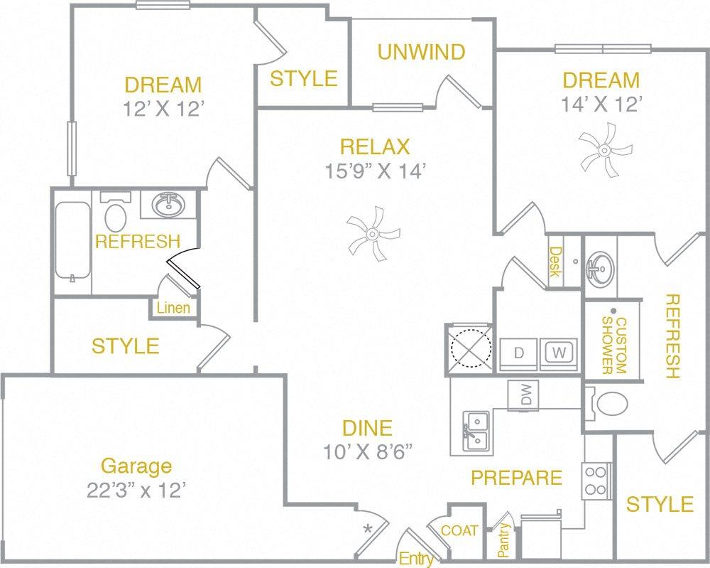 B2LG B2 Garage Floor Plan 6