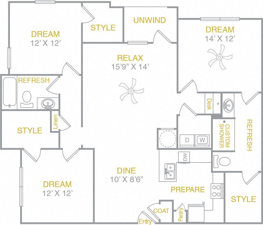 C1 C1 Floor Plan 5