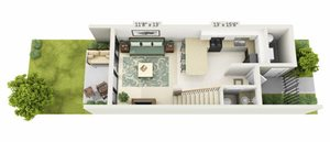 Lakewood Villas 1 Bedroom Standard Floor 1
