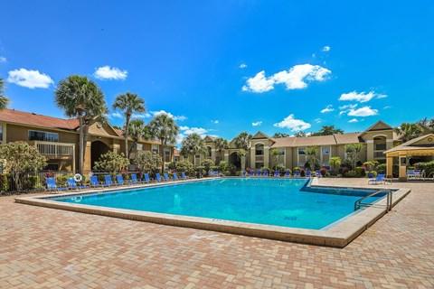 pool & expansive pool deck