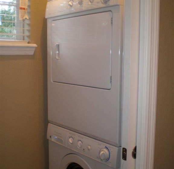 Each apartment comes equipped with a washer & dryer
