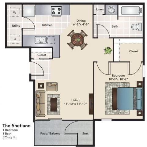 The Shetland Floor Plan 1