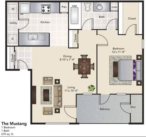 The Mustang Floor Plan 2