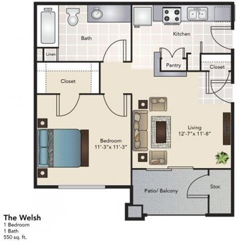 The Welsh Floor Plan 1