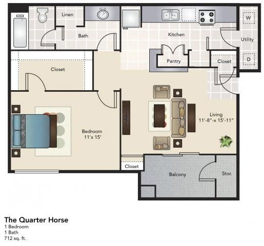 The Quarter Horse Floor Plan 4