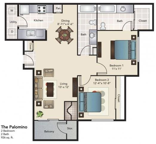 The Palomino Floor Plan 3