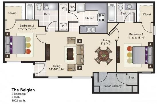 The Belgian Floor Plan 4