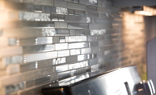 Beautiful Back Splash in Kitchen