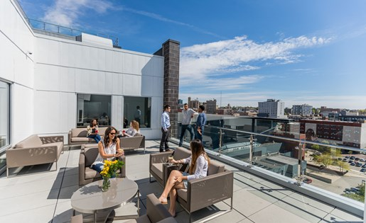 Rooftop Lounge at Arena Place Apartments