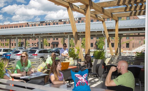 Outdoor Seating at Grand Rapids Market