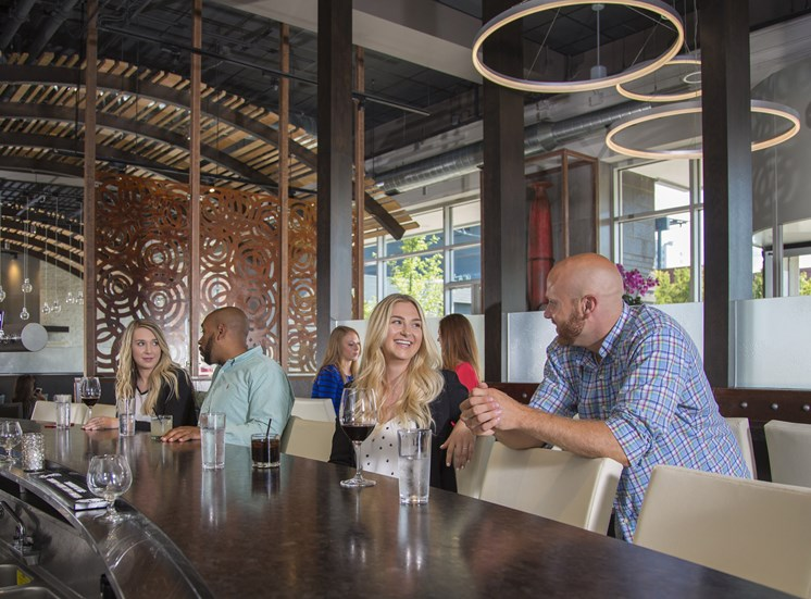 Bar and Dining at Wheelhouse Near Arena Place Apartments