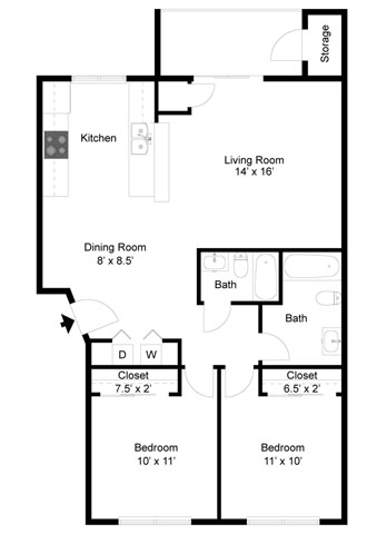 Lancaster Floorplan at Commons at Timber Creek Apartments