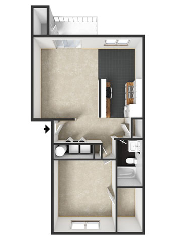Sonoma Floorplan at Commons at Timber Creek Apartments