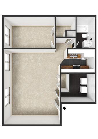 Aspen Floorplan at Commons at Timber Creek Apartments