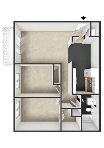Fairmont Floorplan at Commons at Timber Creek Apartments