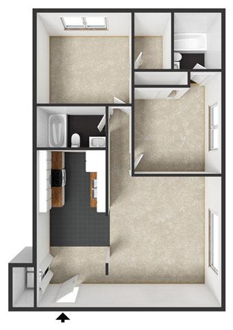 Kirkwood Floorplan at Commons at Timber Creek Apartments