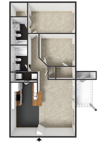 Newberry Floorplan at Commons at Timber Creek Apartments