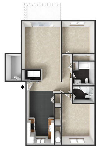Florence Floorplan at Commons at Timber Creek Apartments