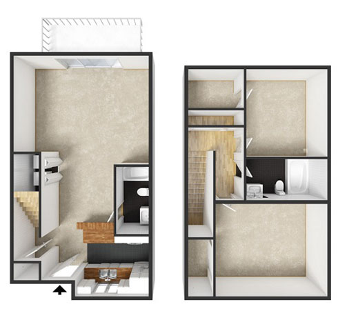 Sydney Floorplan at Commons at Timber Creek Apartments