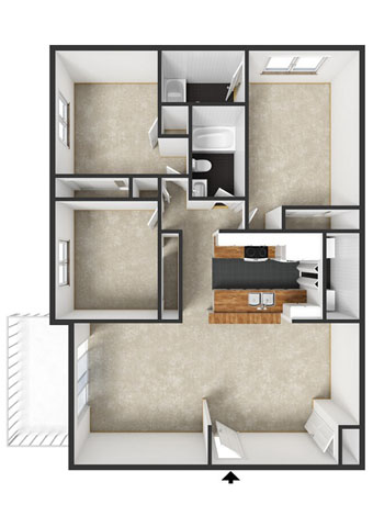 Wheatleigh Floorplan at Commons at Timber Creek Apartments