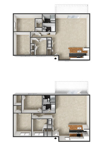 Windsor Floorplan at Commons at Timber Creek Apartments