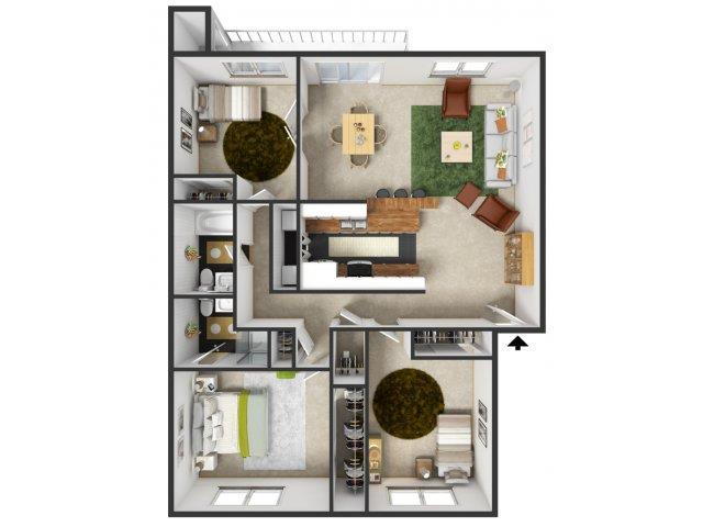 Augustine Floorplan at Commons at Timber Creek Apartments