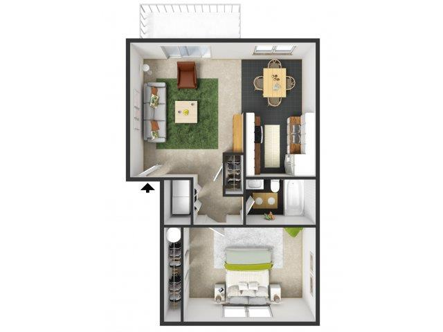 Carlton Floorplan at Commons at Timber Creek Apartments