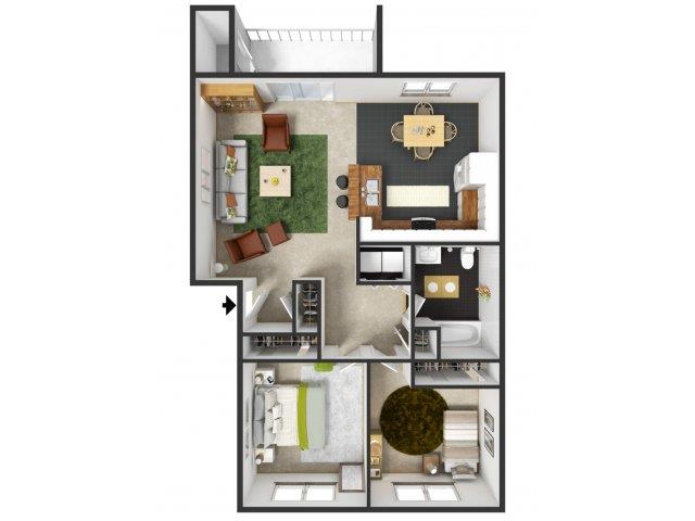 Regent Floorplan at Commons at Timber Creek Apartments