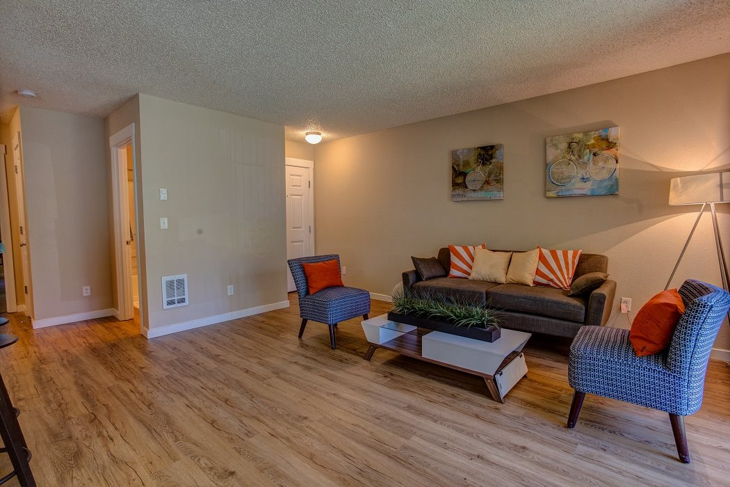 Hardwood Style Flooring, at Commons at Timber Creek Apartments, 12450 NW Barnes Rd, Portland, OR