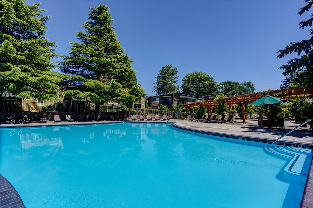 Poolside Cabanas, at Commons at Timber Creek Apartments, Oregon, 97229