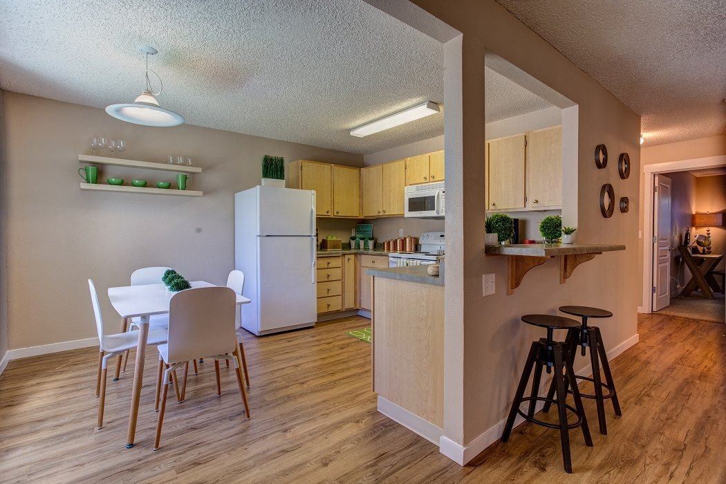 New Countertops and Cabinets, at Commons at Timber Creek Apartments, Oregon, 97229