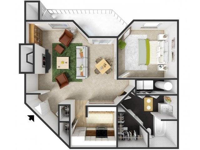 Willamette Floor Plan 1