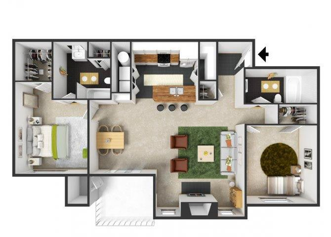 Burgundy Floor Plan 7