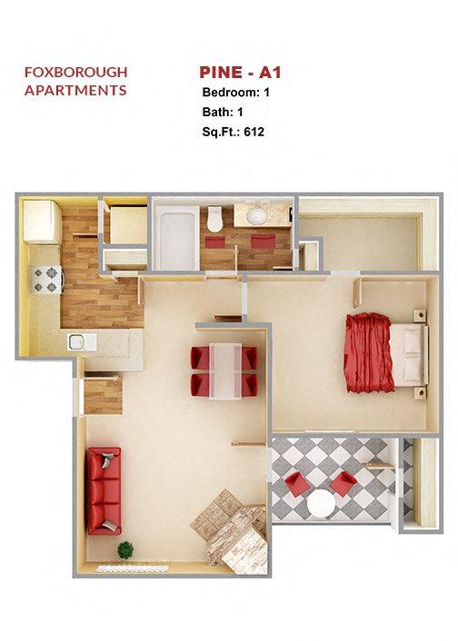 Pine A1 Floor Plan 1