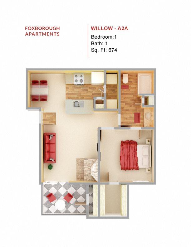 Willow - A2A Floor Plan 2
