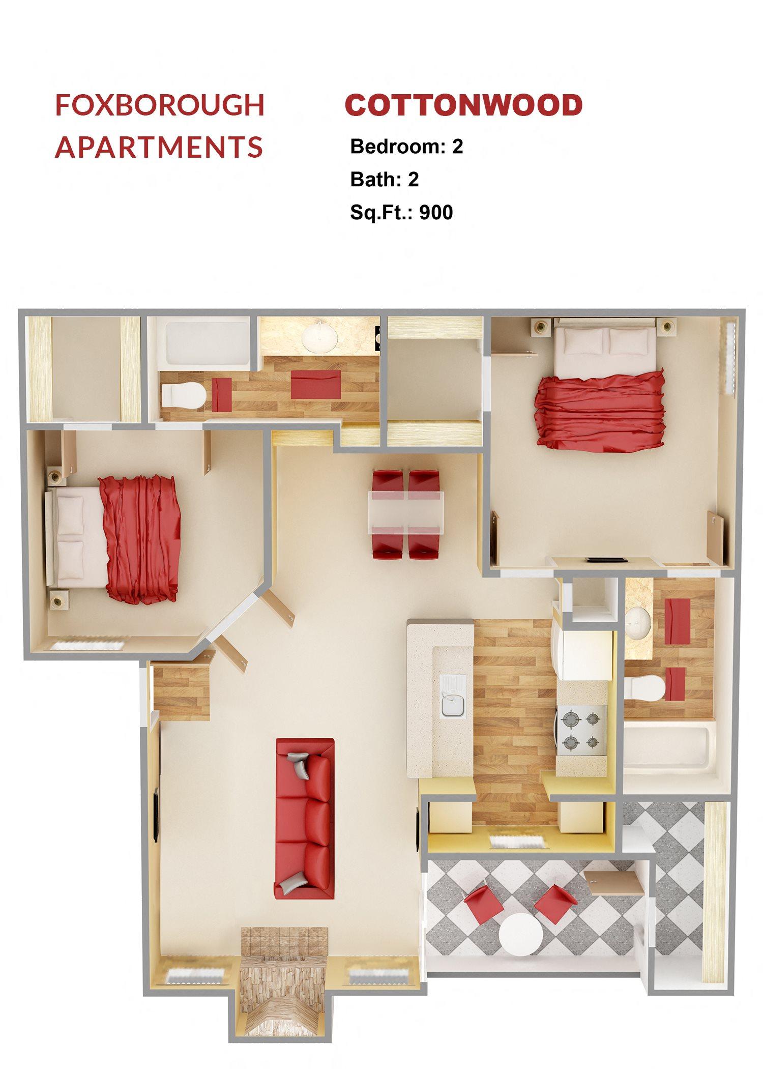 Cottonwood -B1A Floor Plan 6
