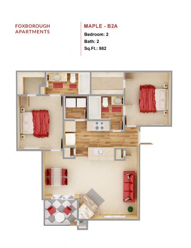 Maple - B2A Floor Plan 8