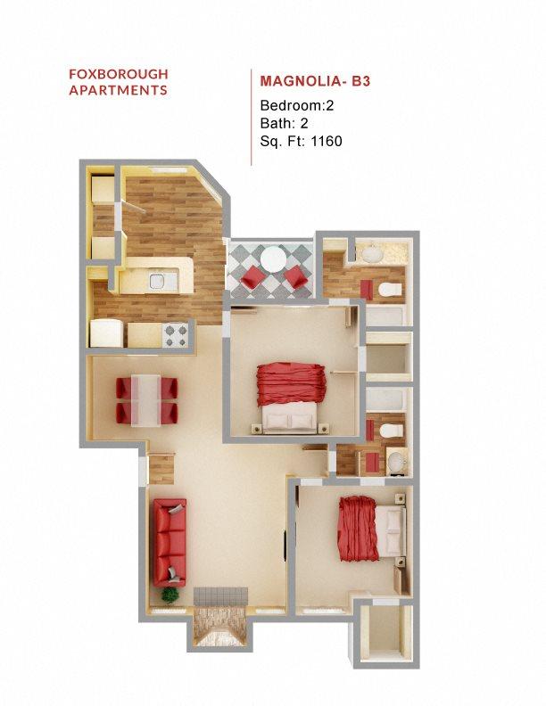 Magnolia - B3 Floor Plan 10
