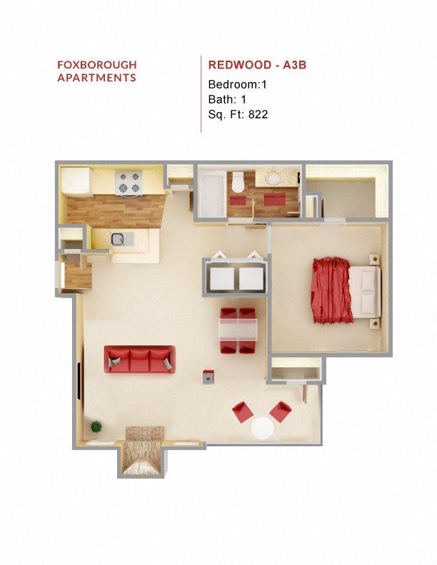 Redwood A3B Floor Plan 5