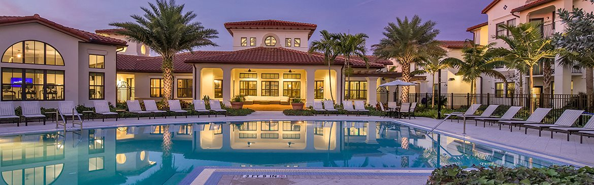 Apartments in Cooper City with a saltwater pool