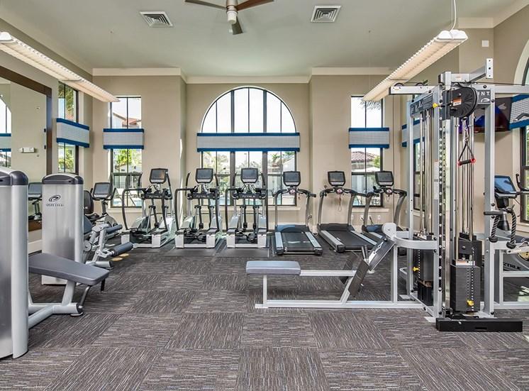 2940 Solano at Monterra apartments fitness center in Cooper City, Florida