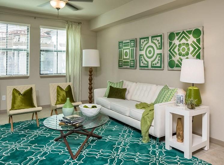 2940 Solano at Monterra model suite living area in Cooper City, Florida