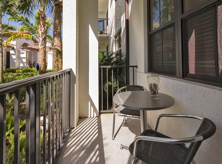 2940 Solano at Monterra model suite patio in Cooper City, Florida