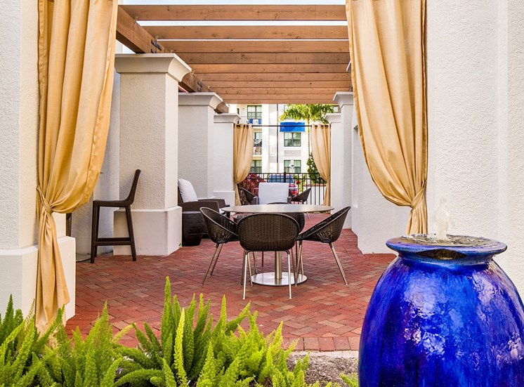 2940 Solano at Monterra apartments poolside outdoor lounge in Cooper City, Florida
